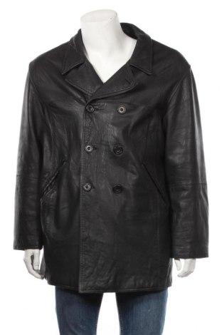 Мъжко кожено яке Cinque, Размер M, Цвят Черен, Естествена кожа, Цена 105,34лв.