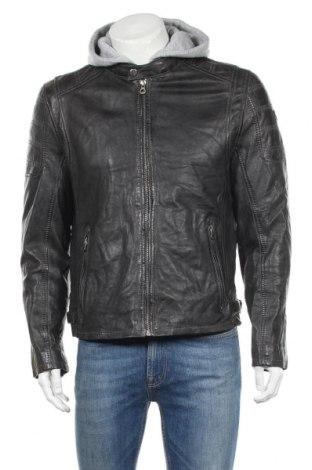Мъжко кожено яке Gipsy, Размер M, Цвят Черен, Естествена кожа, Цена 106,44лв.