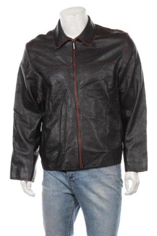 Мъжко кожено яке Milestone, Размер L, Цвят Черен, Естествена кожа, Цена 102,53лв.