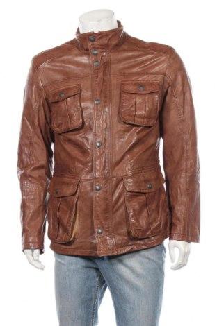 Мъжко кожено яке Roy Robson, Размер L, Цвят Кафяв, Естествена кожа, Цена 99,60лв.