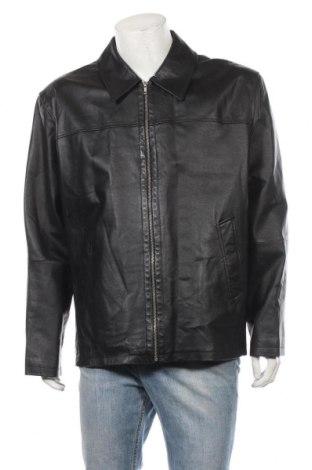 Мъжко кожено яке Studio Coletti, Размер XL, Цвят Черен, Естествена кожа, Цена 94,25лв.