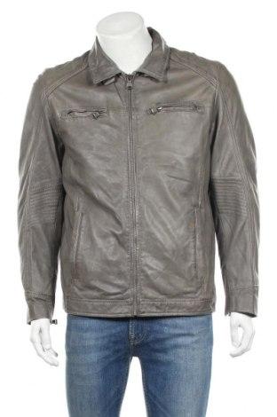 Мъжко кожено яке Walbusch, Размер M, Цвят Сив, Естествена кожа, Цена 83,00лв.