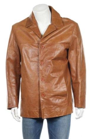 Мъжко кожено яке Warren & Parker, Размер L, Цвят Кафяв, Естествена кожа, Цена 83,98лв.