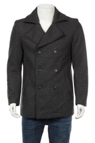 Ανδρικά παλτό 21 Men, Μέγεθος S, Χρώμα Γκρί, 51% πολυεστέρας, 48% μαλλί, 1% άλλα υλικά, Τιμή 39,49€