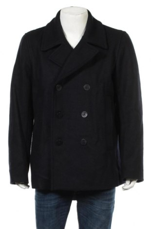 Ανδρικά παλτό Gap, Μέγεθος XL, Χρώμα Μπλέ, 60% μαλλί, 25% πολυεστέρας, 10% βισκόζη, 5% άλλα υλικά, Τιμή 36,40€