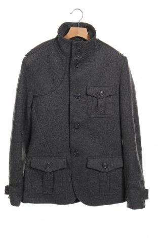 Ανδρικά παλτό H&M, Μέγεθος M, Χρώμα Γκρί, 60% μαλλί, 30% πολυεστέρας, 10% βισκόζη, Τιμή 32,08€