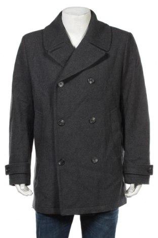 Ανδρικά παλτό H&M, Μέγεθος XL, Χρώμα Γκρί, 50% μαλλί, 42% πολυεστέρας, 4% πολυαμίδη, 2%ακρυλικό, 2% βισκόζη, Τιμή 30,23€