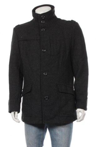 Ανδρικά παλτό H&M, Μέγεθος XL, Χρώμα Γκρί, 55% μαλλί, 45% βισκόζη, Τιμή 34,55€