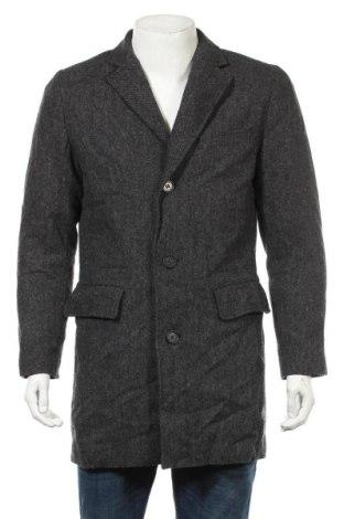 Ανδρικά παλτό Hampton Republic, Μέγεθος S, Χρώμα Γκρί, 80% μαλλί, 15% πολυαμίδη, 5% άλλα νήματα, Τιμή 32,08€