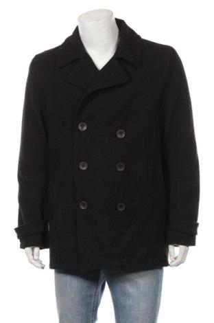 Ανδρικά παλτό Okay, Μέγεθος L, Χρώμα Μαύρο, Πολυεστέρας, Τιμή 27,15€