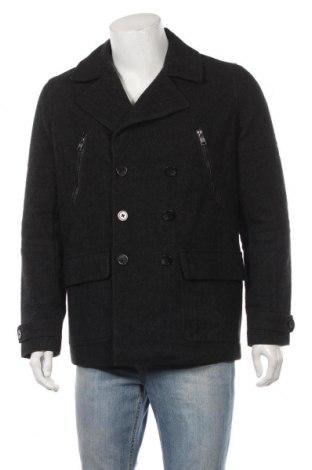 Ανδρικά παλτό Smog, Μέγεθος S, Χρώμα Γκρί, 50% πολυεστέρας, 40% μαλλί, 10% άλλα υφάσματα, Τιμή 30,23€