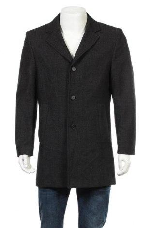 Ανδρικά παλτό Vinci, Μέγεθος M, Χρώμα Μαύρο, 70% μαλλί, 30% πολυεστέρας, Τιμή 41,95€