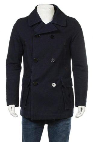 Ανδρικά παλτό Zara Man, Μέγεθος L, Χρώμα Μπλέ, Βαμβάκι, Τιμή 48,74€