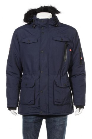 Мъжко яке Geographical Norway, Размер L, Цвят Син, 100% полиамид, Цена 164,45лв.