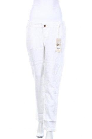 Maternity pants Noppies, Μέγεθος L, Χρώμα Λευκό, Λινό, Τιμή 12,37€