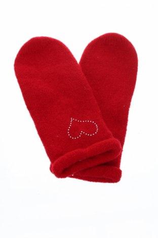 Ръкавици, Цвят Червен, Вълна, Цена 25,87лв.