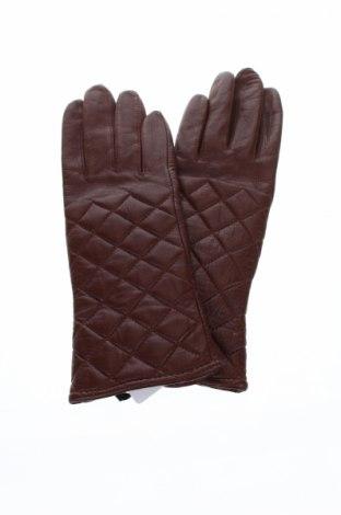 Ръкавици Isaac Mizrahi, Цвят Кафяв, Естествена кожа, Цена 53,59лв.