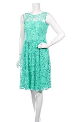 Рокля Naf Naf, Размер S, Цвят Зелен, Полиестер, Цена 61,92лв.