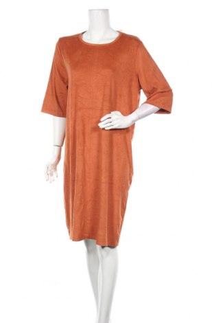 Рокля Reserved, Размер XL, Цвят Оранжев, 89% полиестер, 11% еластан, Цена 27,93лв.