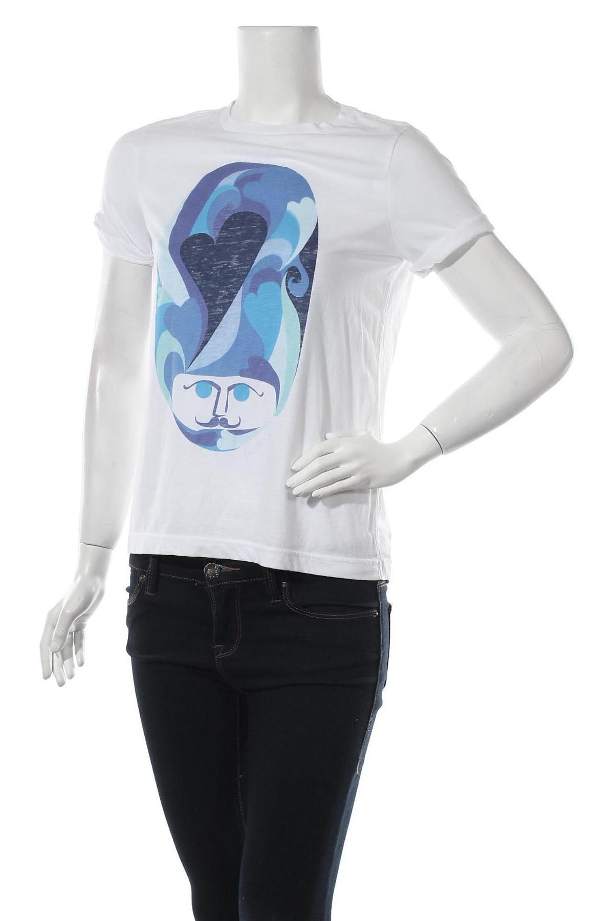 Дамска тениска Jack Wills, Размер M, Цвят Бял, Памук, Цена 38,00лв.
