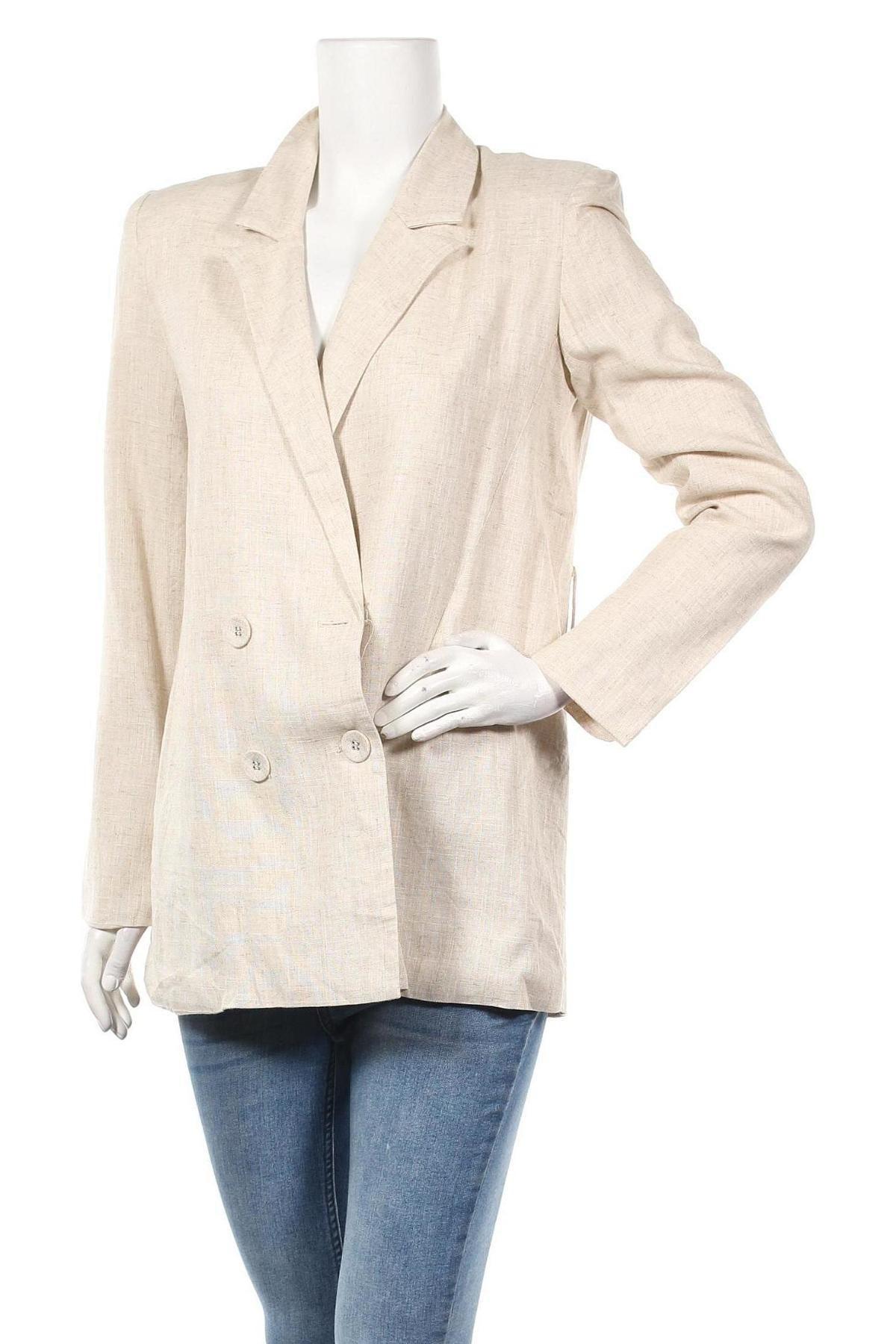 Дамско сако Eight Paris, Размер M, Цвят Бежов, 70% лен, 30% вискоза, Цена 41,76лв.