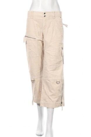 Pantaloni de velvet de femei Esprit, Mărime M, Culoare Bej, 97% bumbac, 3% elastan, Preț 96,16 Lei