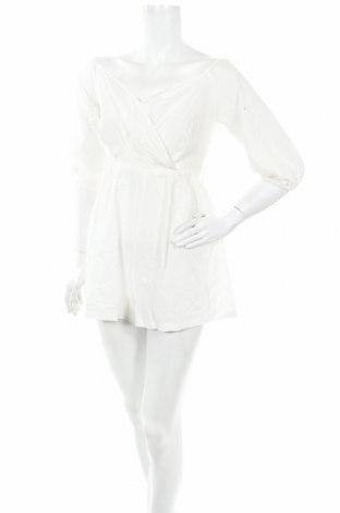 Dámský overal Boohoo, Velikost S, Barva Bílá, Bavlna, Cena  370,00Kč