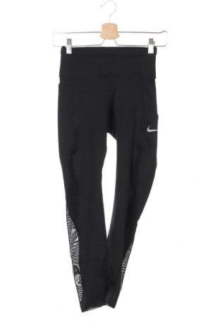 Γυναικείο κολάν Nike, Μέγεθος XS, Χρώμα Μαύρο, 75% πολυεστέρας, 25% ελαστάνη, Τιμή 35,57€