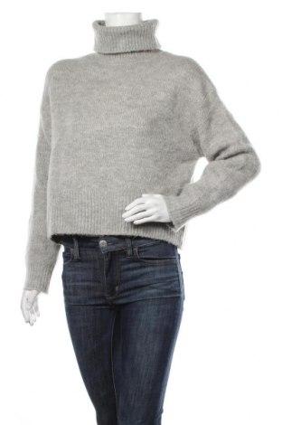 Pulover de femei H&M, Mărime XS, Culoare Gri, 70%acril, 14% poliamidă, 10% lână, 5% lână de alpaca, 1% elastan, Preț 106,11 Lei