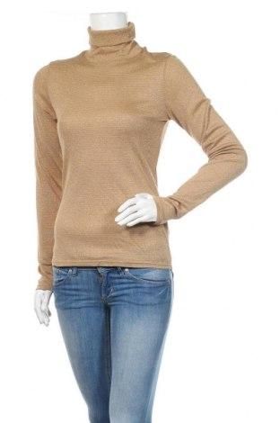 Helancă de femei H&M, Mărime M, Culoare Bej, 43% viscoză, 37% poliester, 10% fire din metal, 10% poliamidă, Preț 126,00 Lei