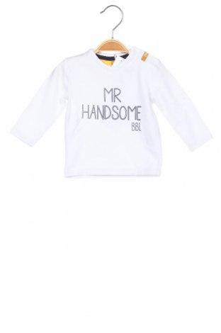 Детска блуза Beebielove, Размер 2-3m/ 56-62 см, Цвят Бял, 95% памук, 5% еластан, Цена 25,50лв.