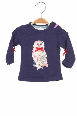 Детска блуза Beebielove, Размер 2-3m/ 56-62 см, Цвят Син, 95% памук, 5% еластан, Цена 33,00лв.