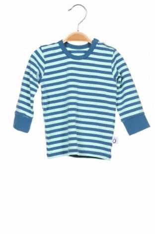 Детска блуза Lamino, Размер 3-6m/ 62-68 см, Цвят Син, 95% памук, 5% еластан, Цена 27,30лв.