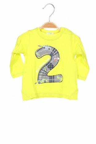Детска блуза United Colors Of Benetton, Размер 2-3m/ 56-62 см, Цвят Жълт, Памук, Цена 16,80лв.