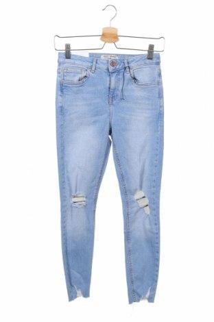 Dětské džíny  New Look, Velikost 10-11y/ 146-152 cm, Barva Modrá, 99% bavlna, 1% elastan, Cena  622,00Kč