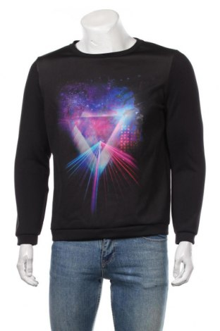 Мъжка блуза H&M, Размер M, Цвят Черен, 93% полиестер, 7% еластан, Цена 27,30лв.