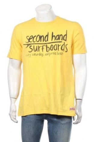 Мъжка тениска Edc By Esprit, Размер XL, Цвят Жълт, 100% памук, Цена 23,10лв.
