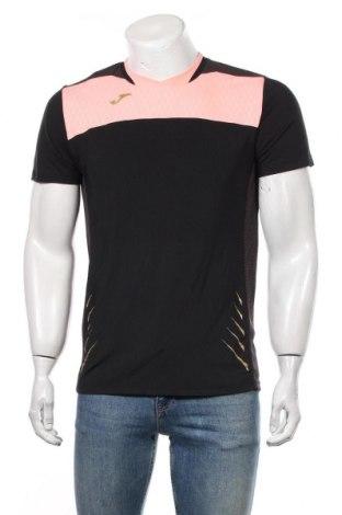 Мъжка тениска Joma, Размер M, Цвят Черен, 95% полиестер, 5% еластан, Цена 17,85лв.