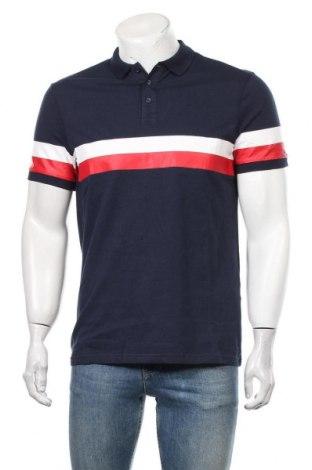 Мъжка тениска Pier One, Размер M, Цвят Син, Памук, еко кожа, Цена 27,30лв.