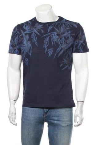Мъжка тениска Pier One, Размер M, Цвят Син, Памук, Цена 35,70лв.