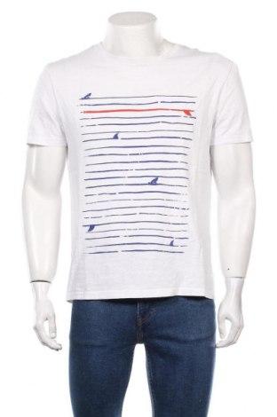 Мъжка тениска Pier One, Размер L, Цвят Бял, Памук, Цена 19,95лв.
