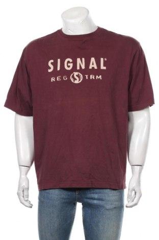 Мъжка тениска Signal, Размер XL, Цвят Червен, Памук, Цена 23,10лв.