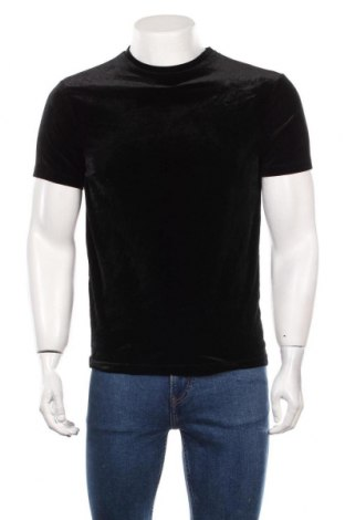 Мъжка тениска Topman, Размер M, Цвят Черен, 92% полиестер, 8% еластан, Цена 16,80лв.