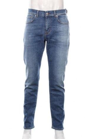 Męskie jeansy 7 For All Mankind, Rozmiar XL, Kolor Niebieski, 99% bawełna, 1% elastyna, Cena 344,00zł