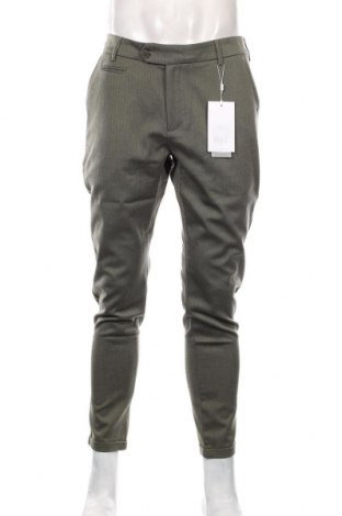 Męskie spodnie Les Deux, Rozmiar M, Kolor Zielony, 63% poliester, 32% wiskoza, 5% elastyna, Cena 438,00zł