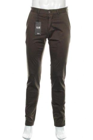 Pantaloni de bărbați S.Oliver, Mărime M, Culoare Verde, 97% bumbac, 3% elastan, Preț 219,57 Lei