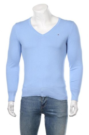 Мъжки пуловер Tommy Hilfiger, Размер M, Цвят Син, 67% памук, 33% полиамид, Цена 45,15лв.