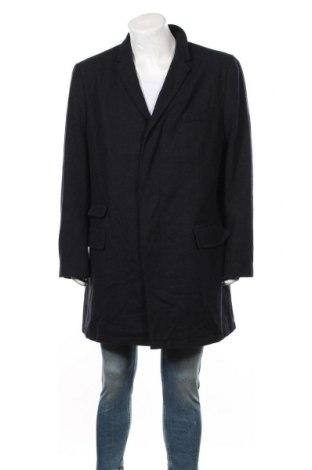 Palton de bărbați Angelo Litrico, Mărime 3XL, Culoare Albastru, 50% poliester, 50% lână, Preț 172,42 Lei