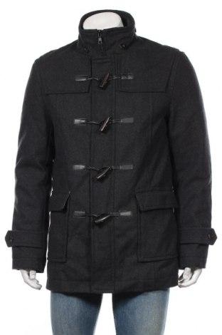 Palton de bărbați Zara Man, Mărime L, Culoare Gri, Poliester, Preț 225,47 Lei