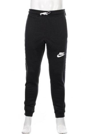 Męskie spodnie sportowe Nike, Rozmiar M, Kolor Czarny, 80% bawełna, 20% poliester, Cena 198,00zł